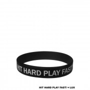 """Lux Drummer Wristband """"Hit Hard Play Fast"""""""